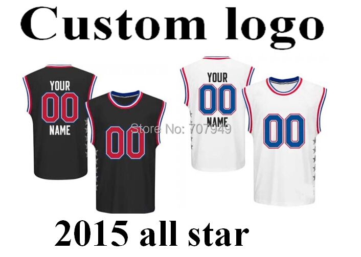 custom logo team name Cheap Adult Nickname Special number 2015 star personal Basketball Jersey shorts pants - shoes store