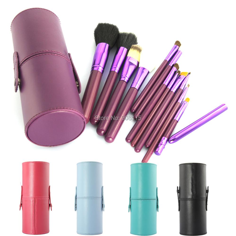 Make Up Brushes 12 PCS MakeUp Brush Cosmetic Set Eyeshadow wood Brush Blusher Tools with Holder