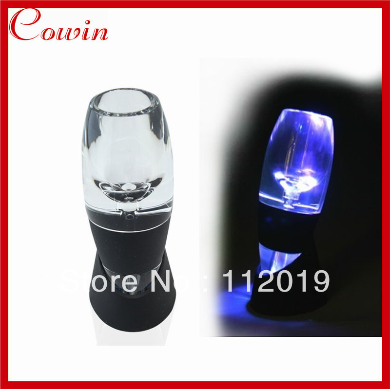 Free shipping 7 color LED light Magic Red wine Decanter,Red Wine Aerator Essential Set With Bag Hopper,Red wine Glass Cup(China (Mainland))