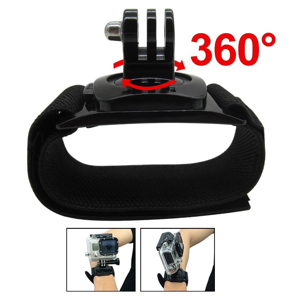 Гаджет  Gopro Accessories 360 Degree Rotation Hand Wrist Strap Band Mount Arm Belt for Gopro Hero 3 3+ 4 Xiaomi Yi SJ4000/5000/6000 None Бытовая электроника