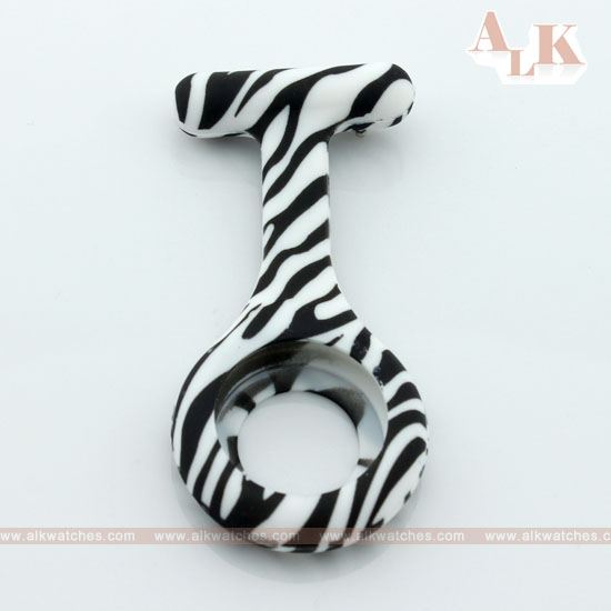 patterned zebra silicone nurse watch strap case band FOB doctor woman quartz - ALK watches online store