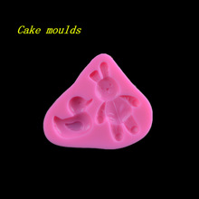Buy 93*81*13mm cartoon Rabbit duck pattern silicone mold fondant cake chocolate decoration mould baking tools DIY craft mold for $5.40 in AliExpress store
