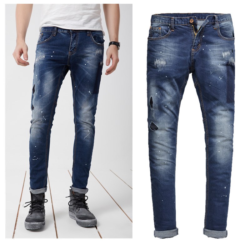 Mens Stretch Jeans. Looking to switch up your jeans style? Trade in the relaxed, loose fit for a more tailored look. Check out these classic denim with a new twist in men's stretch jeans.