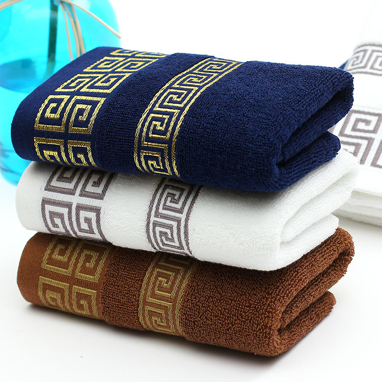 2016 New 100 Cotton Absorbent Printed Face Towel Brand for Adults 34 76CM 4pcs lot font