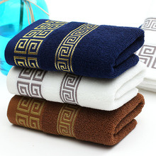 2016 New 100% Cotton Absorbent Printed Face Towel Brand for Adults 34*76CM 4pcs/lot Plaid beach bath Towels Bathroom toallas