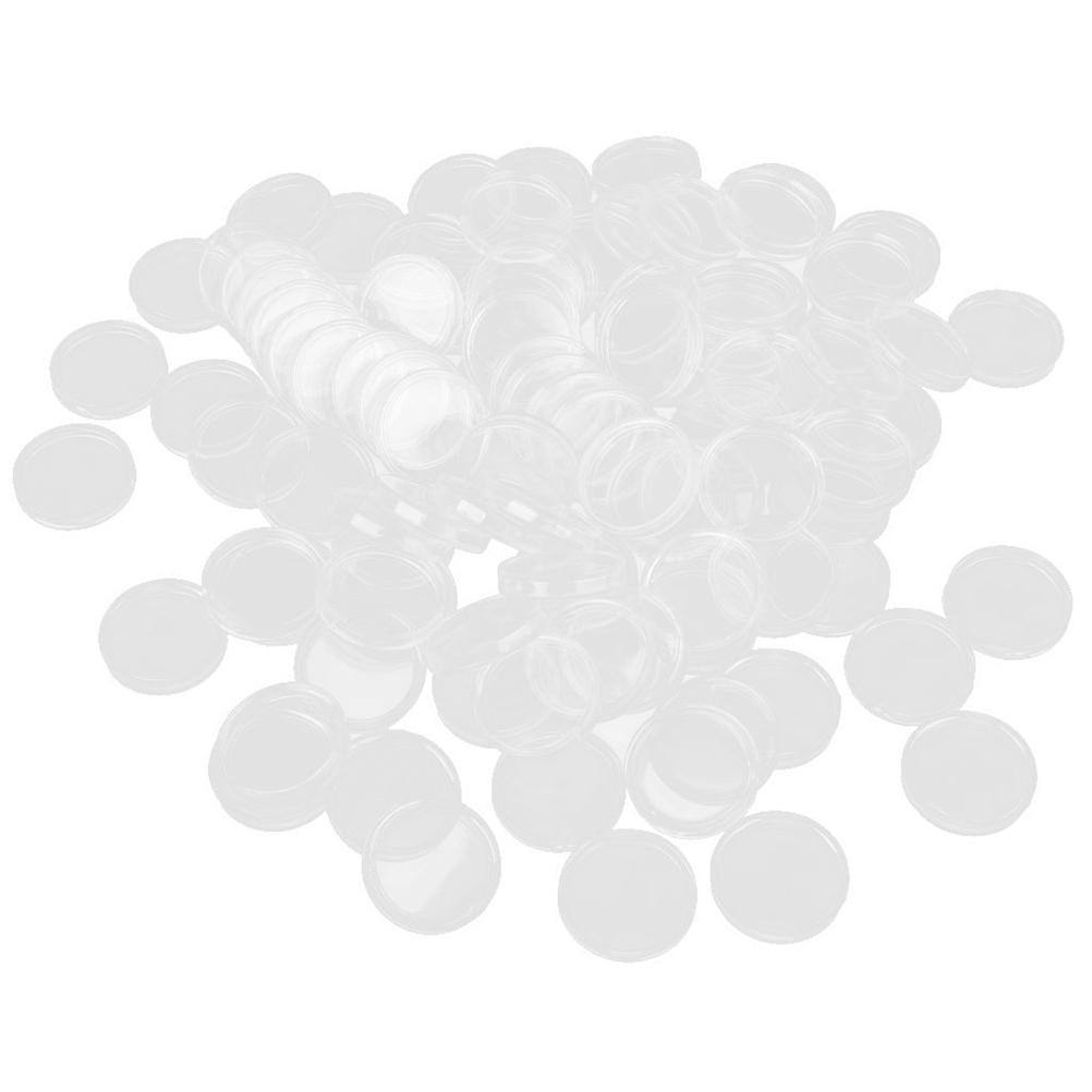 100pcs 27mm Plastic Box Coin Holder Capsules Container Coin Round Case Transparent Gaine(China (Mainland))
