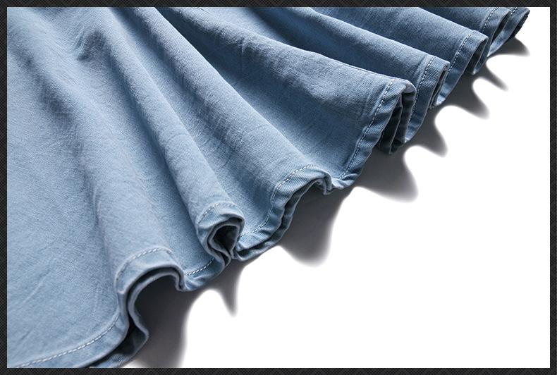 HTB1E0yaQpXXXXb0XXXXq6xXFXXX2 - Must Have Women's Clothing Set, 2017 New Slash Neck Half Sleeve Denim Top and Denim Cotton Skirt One Set