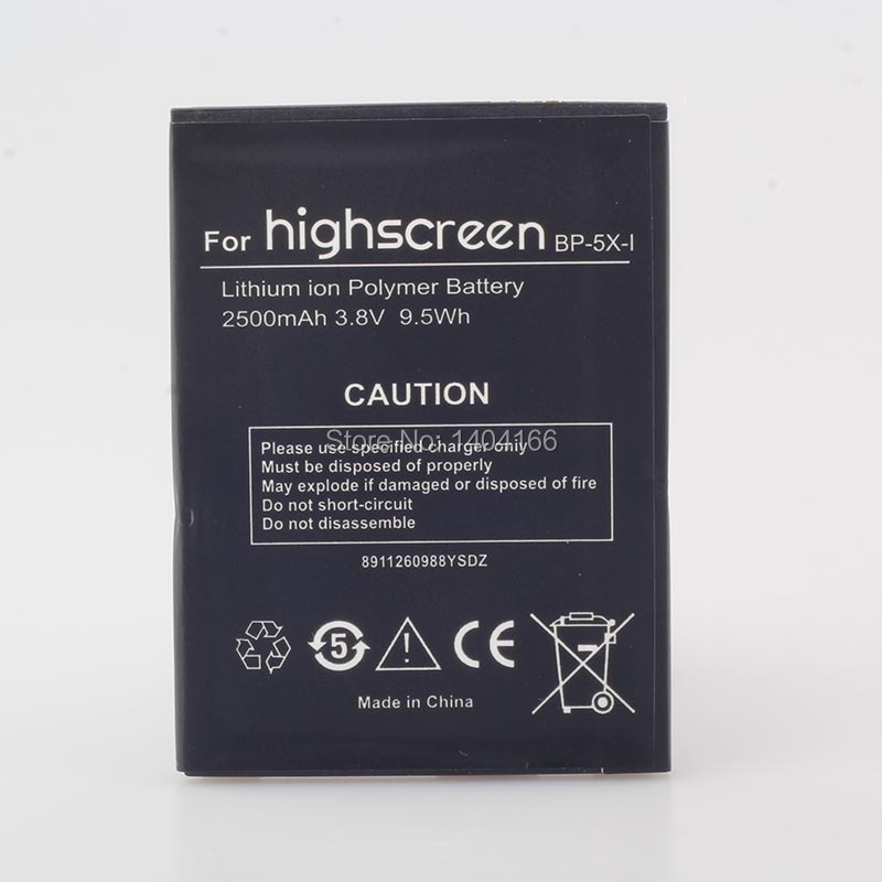 High quality mobile phone batteries fit for highscreen BP-5X-I for innos D10 D10C D10F D10CF boost 2 battery(China (Mainland))
