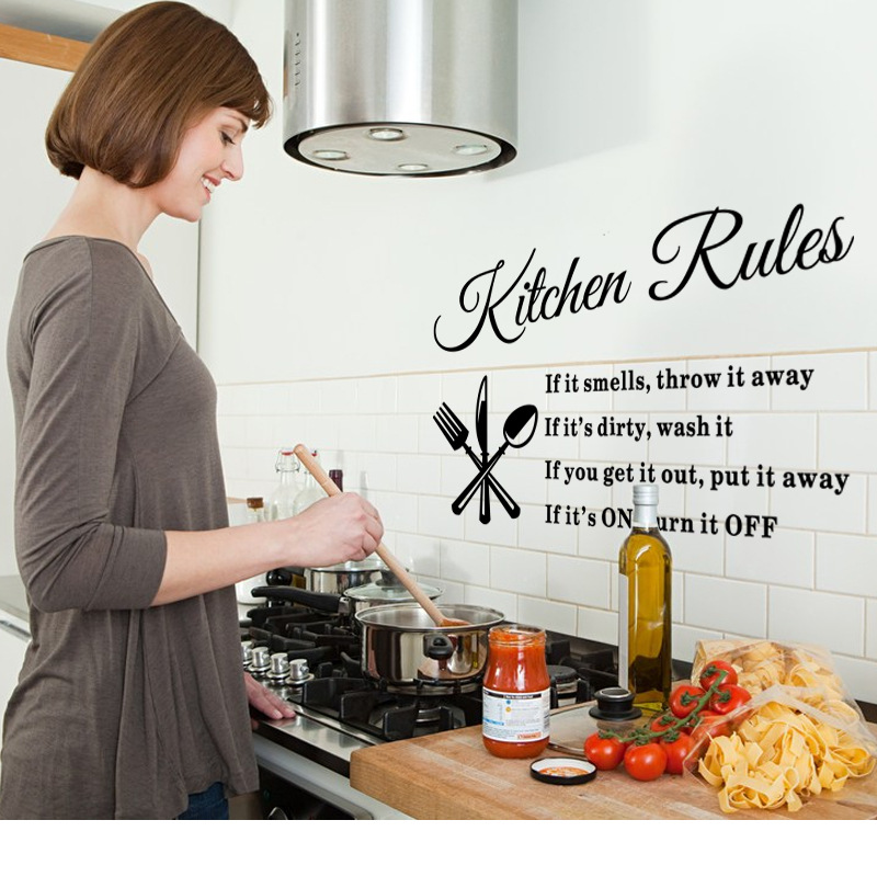 * Kitchen rulers wall decal removable vinyl kitchen wall sticker Home decor Home Accessories Beautiful Pattern Design Decoration(China (Mainland))