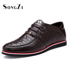 2016 New Mens Shoes Genuine Leather Checkered Oxford Office Shoes For Men High Quality Mens Dress Italian Leather Shoes Formal(China (Mainland))