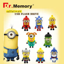 Pen Drive Minions USB Flash Drive Super Man Flash Drive 4gb 8gb 16gb 32gb Hulk New Design Flash Memory Stick Free Shipping(China (Mainland))