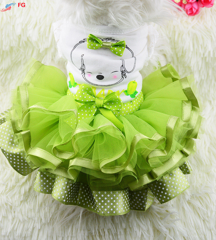 Most Styles Dog Puppy Skirt Wedding Party Dog Cat Princess Dress Clothes(China (Mainland))