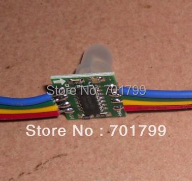 WS2801 pixel node,50node a string, non-waterproof,DC5V input