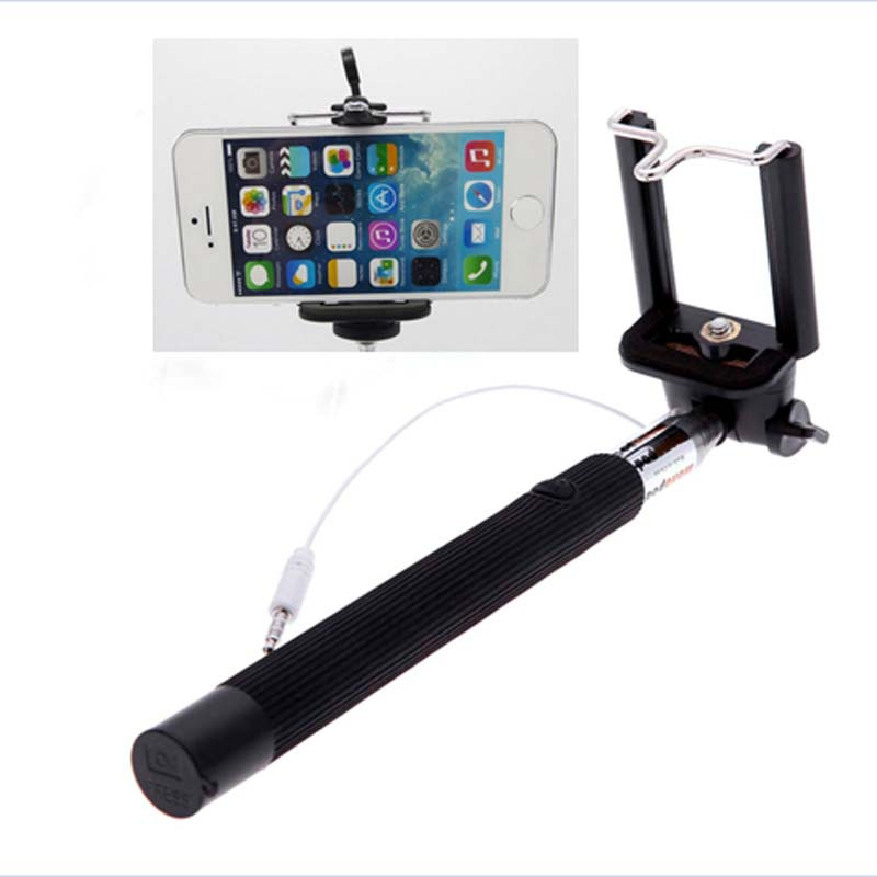 Extendable Handheld Monopod Self Stick Clip mobile phone Apple iPhone 5 4 4S Samsung Note - D&H International Co., Ltd. store