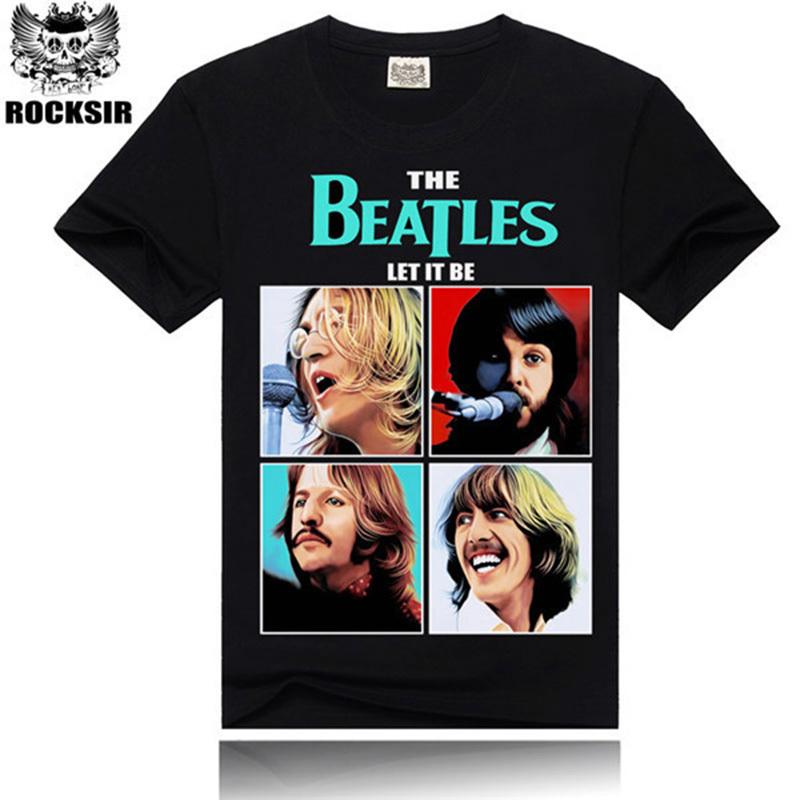 Men black t-shirt the beatles rock band 3D printing tshirts mens short sleeve tee tops slim summer casual tshirt for rock menОдежда и ак�е��уары<br><br><br>Aliexpress