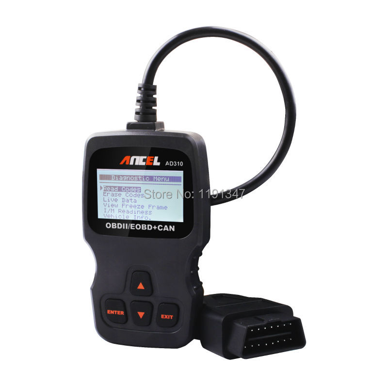 ANCEL AD310 OBD2 EOBD CAN Engine Code Reader OBDII Scanner Auto Diagnostic Tool such as vgate vs890 with Russian language(China (Mainland))