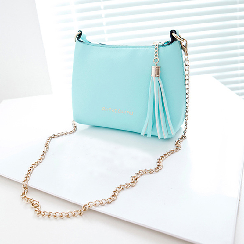 Shell PU Leather Women Handbag Chain Shoulder bag Crossbody Messenger bag Candy color Casual Free shipping yearhappy(China (Mainland))