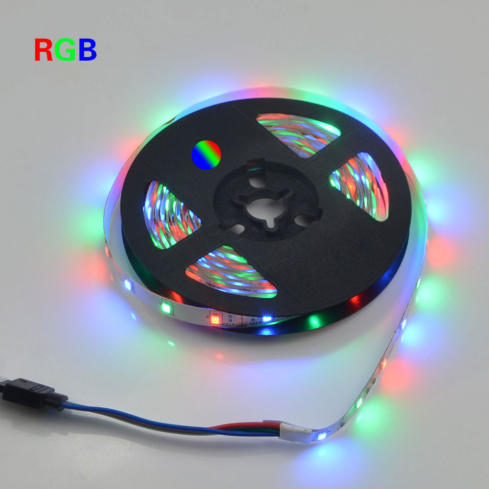For christmas outdoor 5m DC12V 2835 SMD no waterproof RGB LED Strip Light String Ribbon lamp More Brighter than 3528 3014(China (Mainland))