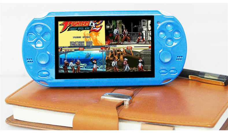 2016 fashion 4GB 4.3 Inch PMP Handheld Game Player double rocker MP4 MP5 Player Video FM Camera Portable Game Console(China (Mainland))