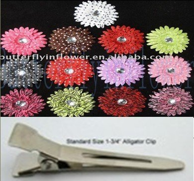 """120pcs/set 4""""New daisy Flowers clip new arrival,many  colors artificial flower clips,faster delivery time"""