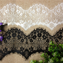 18m/ lot Eyelash Lace Fabric 8cm DIY Decorative High Quality Soft Off White Nylon Eyelash Lace Trim Wedding Dress Fabric RS300(China (Mainland))