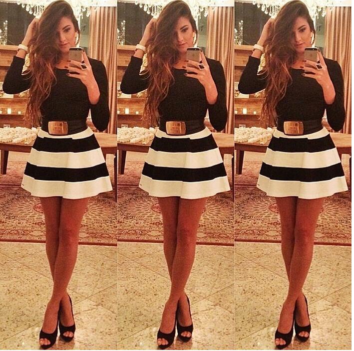 Женское платье Women bandage dress  women striped dress женское платье summer dress 2015cute o women dress