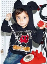 New Fashion Cute Kids Girls Boys  Minnie Mouse Hooded Jacket Sweater Hoodie Coat 1-6Y(China (Mainland))