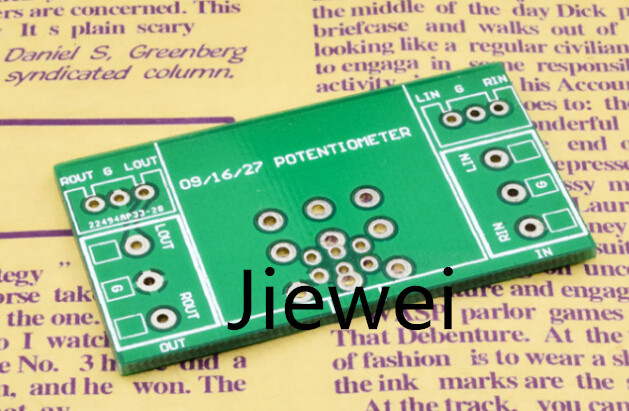 (Jiewei) Free Shipping 2pcs potentiometer PCB board Compatible with 09 type 16type 27type 148type(China (Mainland))