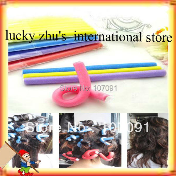 Shipping/ Wholesale Lots OF 20 New Cute And Beauty Magic Hair Curler Roller Flexi Rod