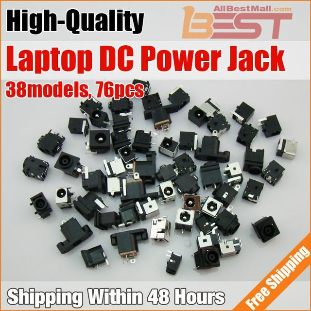 38models,76pcs/lot,Notebook/Laptop DC Power Jack,DC Socket for IBM/DELL/Lenovo/Samsung/Acer/Asus/SONY/Toshiba/HP...etc,.