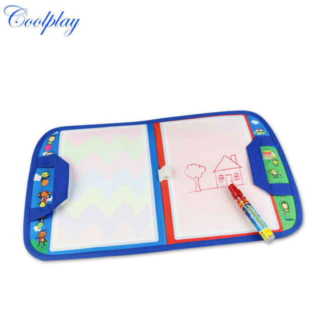 Coolplay CP1349nc 46X29.5cm baby toy Magic Water Doodle Mat with1 Magic Pen/ water doodle bag/drawing board/drawing rug