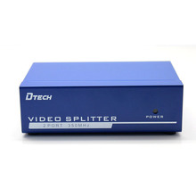 One point two switch FI one into two split screen high-definition computer monitor video converter