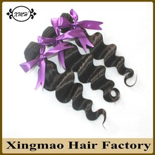 No Synthetic Mixed Hair Extension 8A Unprocessed Peruvian Virgin Hair Loose Wave 3Pcs Full Head Peruvian Human Hair Machine Weft(China (Mainland))