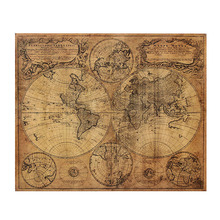 Kraft Paper Retro 1746 World Map Poster 62x52cm Matte Brown Paper Map Of The Globe Old World Large Size Vintage Style (China (Mainland))
