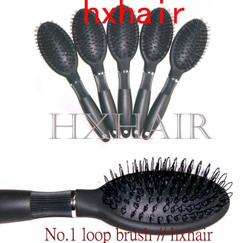 Freeshipping - 10pcs No.1 Loop Brush for Hair Extension / Professional Hair Comb<br>