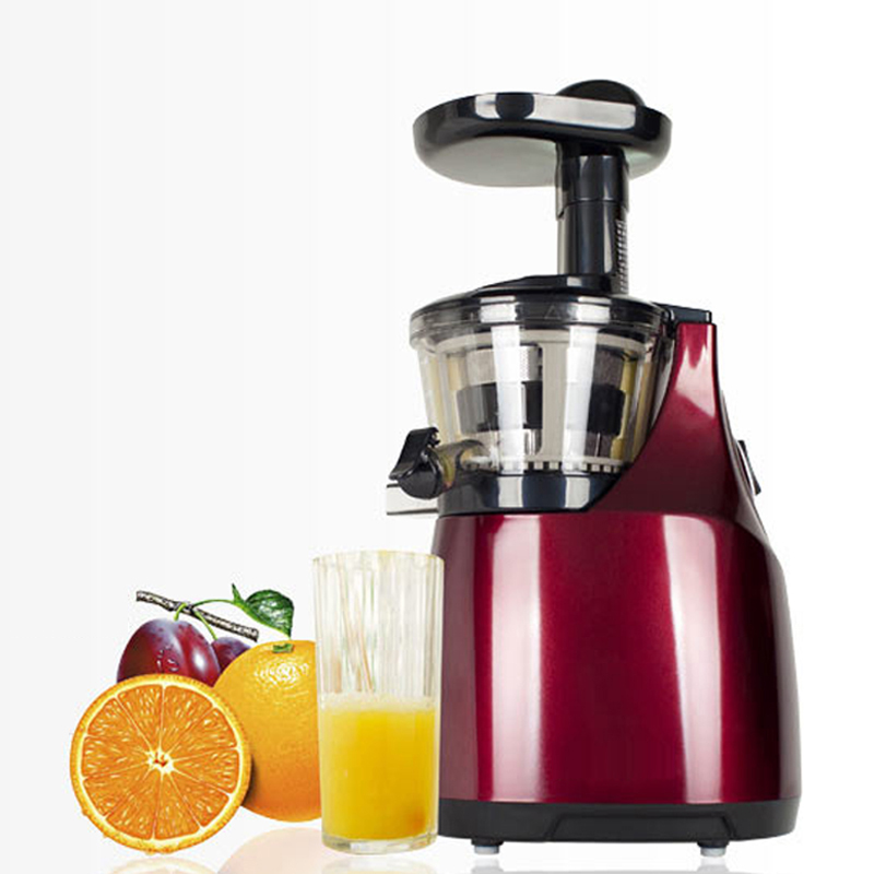 Electric Orange Fruit Big Mouth Slow Speed Masticating Juicer Machine Orange Wheatgrass Juice ...