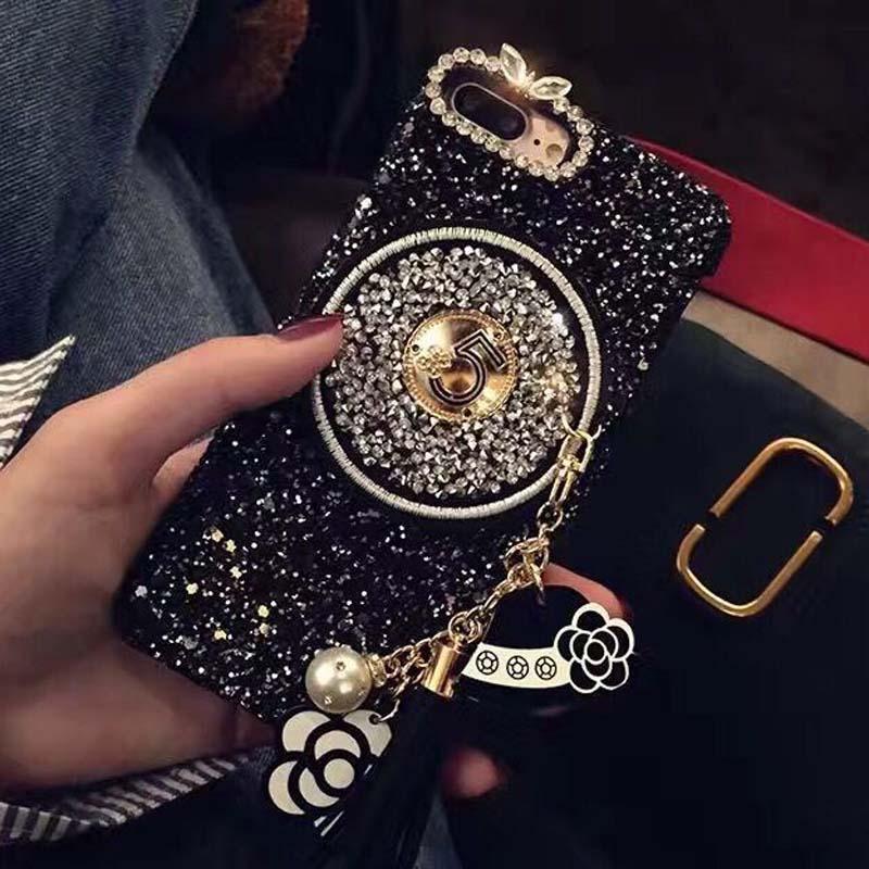Hot tassel Keychain lanyard pearl glitter Coque Case BBK VIVO X6 Plus X7 Plus X9 Plus Xplay5 Xplay6 case Capa Fundas cover
