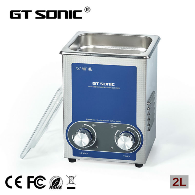 2L Ultrasonic cleaner heater power adjustable for contact lens Jewelry Rings Dental Eyeglasses PCB cleaning machine Transducer(China (Mainland))