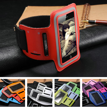 Popular Sports Armband Case for iphone 4 4s Convenient Mobile Phone Cover for iphone4 4g Various Colors Wholesale 30pcs/lot Red(China (Mainland))