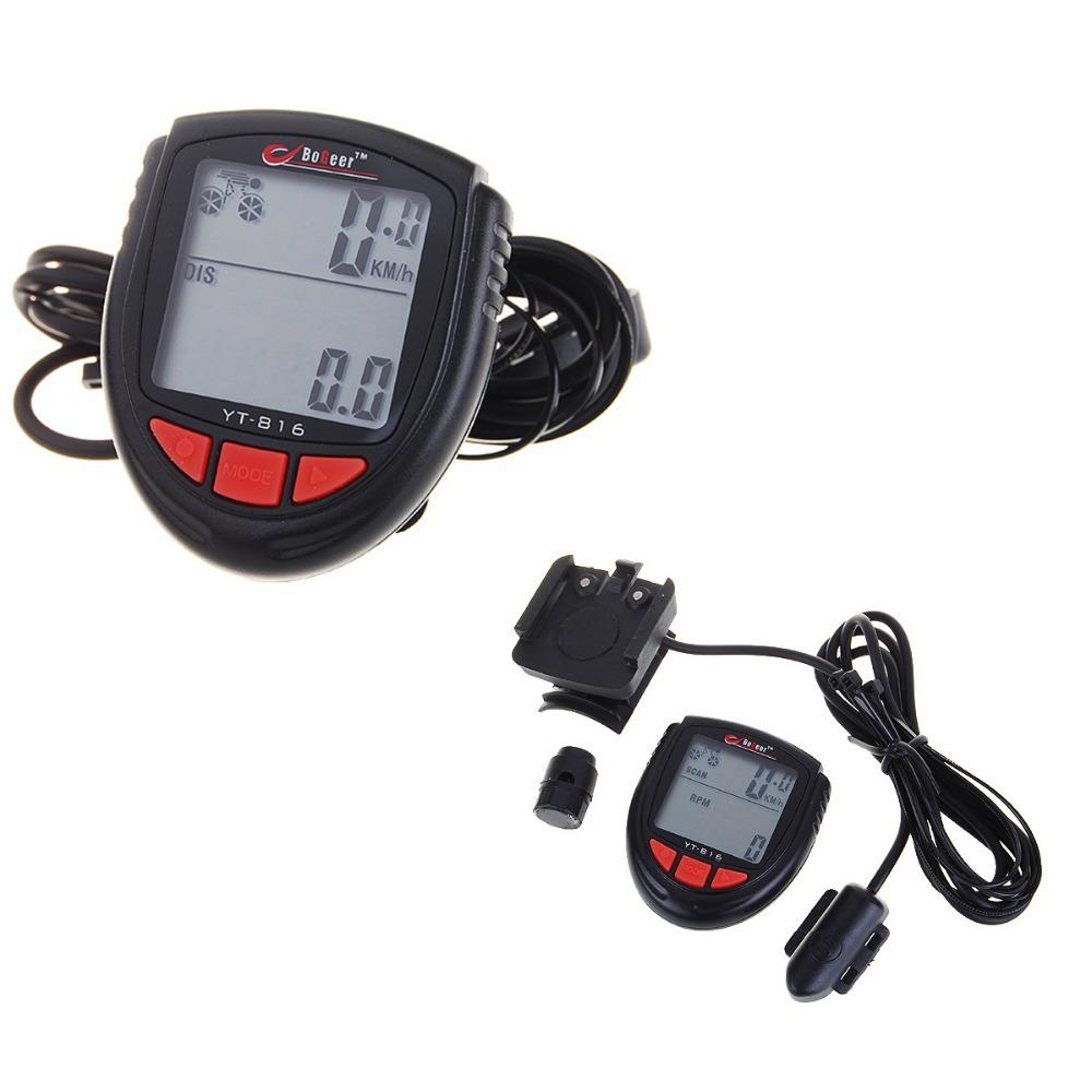 New Hot Waterproof Digital 1.4quot; LCD Bicycle Computer Odometer Speedometer Clock Stopwatch Bike Computer Bicycle Accessories