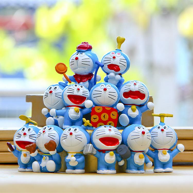 12 pcs pet shop toys action movie pvc puppets toy figures kids toys pokemon toys cartoon children jingle cats model(China (Mainland))