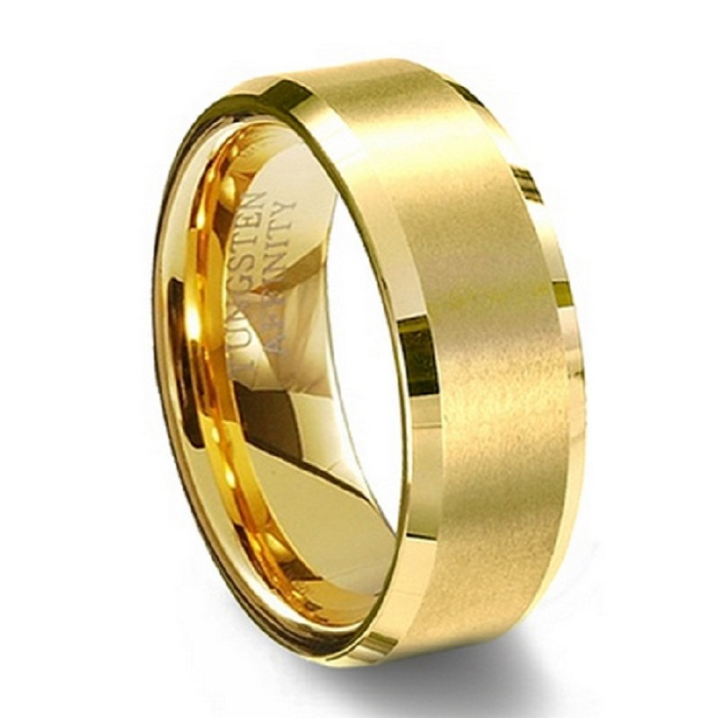 Aliexpress Buy 8mm Women Mens 18k Gold Plated Alliance Tungsten Carbide Wedding Band Ring