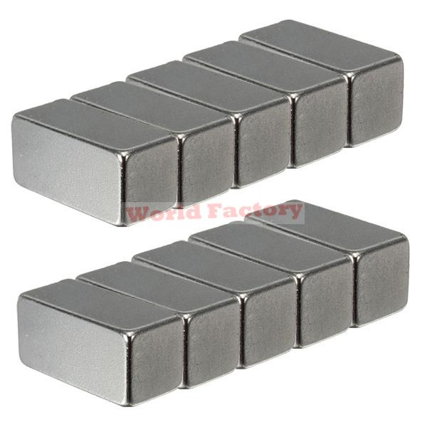 2015 Top Fashion Real Neodymium Magnets Iman Imanes 10 Pcs/lot _ N35 20x10x10mm Super Strong Block Rare Earth Magnet