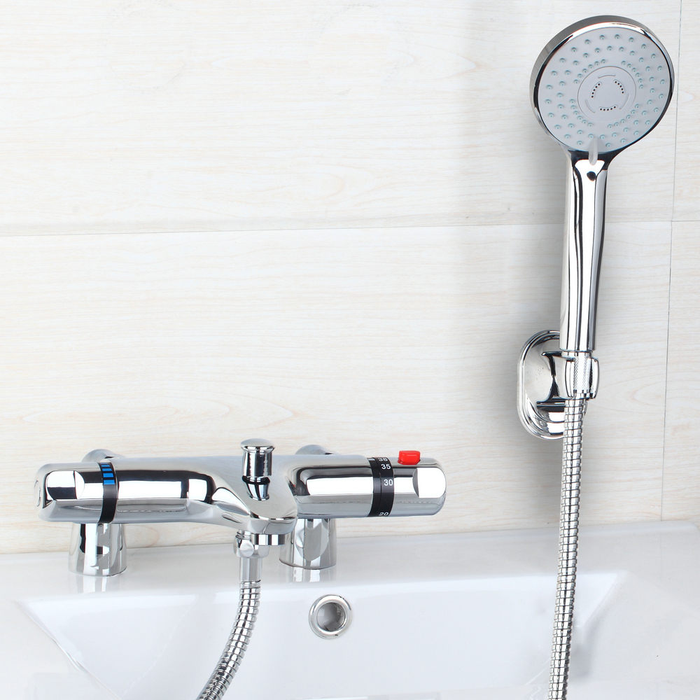 BEST Deck Mounted Tub Thermostatic Faucet 97167 18 Modern Bathroom Bathtub Sh