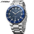 SINOBI Men s Diving Wrist Watches 10Bar Waterproof Steel Watchband Top Luxury Brand Male Sports Geneva
