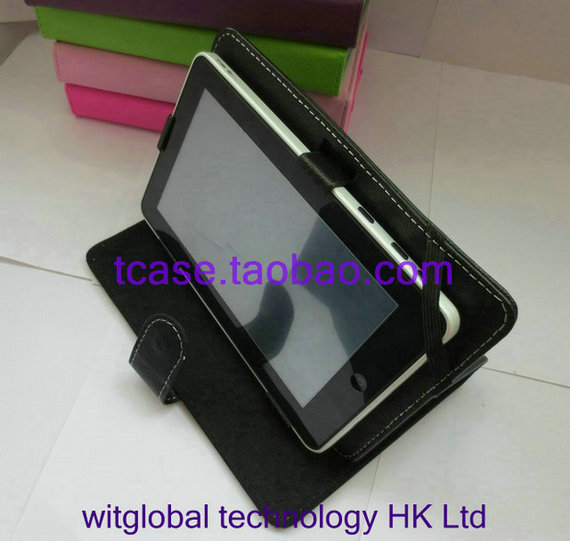 """Luxury Stand LEATHER CASE Cover +Stylus+Film for 9.7"""" Eken A90 K90 Android RK3066 tablet Free Shpping(China (Mainland))"""