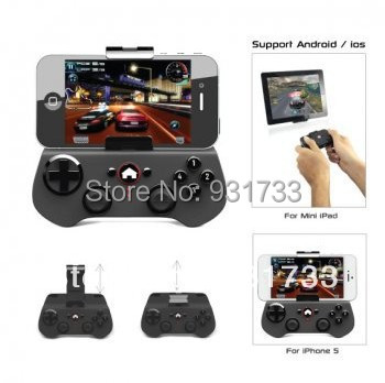 Free shipping Brand Ipega PG-9017 black wireless Bluetooth Game Controller W/Joystick For Android Mobile Phones&IOS iPhone iPad