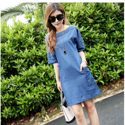 Женское платье Denim Woman Dress 2015  Summer dress  HQ0774 женское платье summer dress 2015cute o women dress