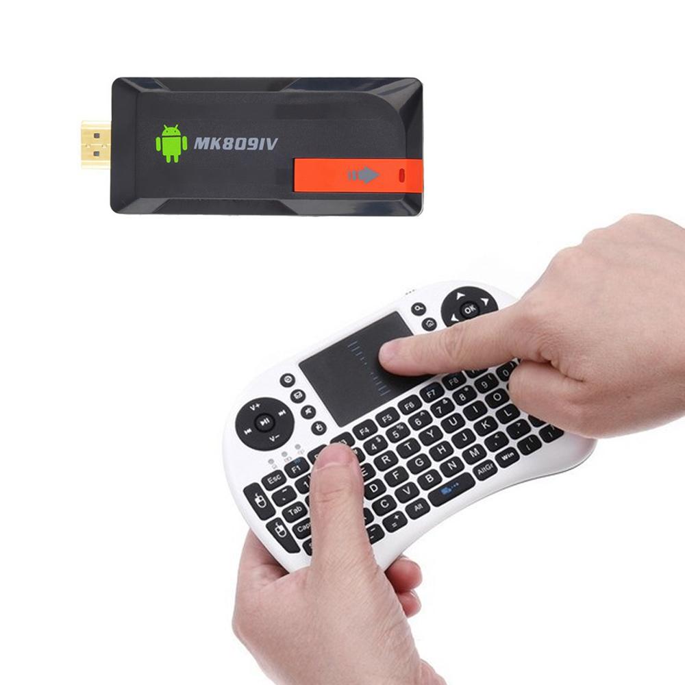 MK809IV Bluetooth Android 4.4.2 TV Box mini PC Rk3188T 2GB RAM 8GB external Antenna TV Stick + Rii i8 Russian air mouse keyboard(China (Mainland))