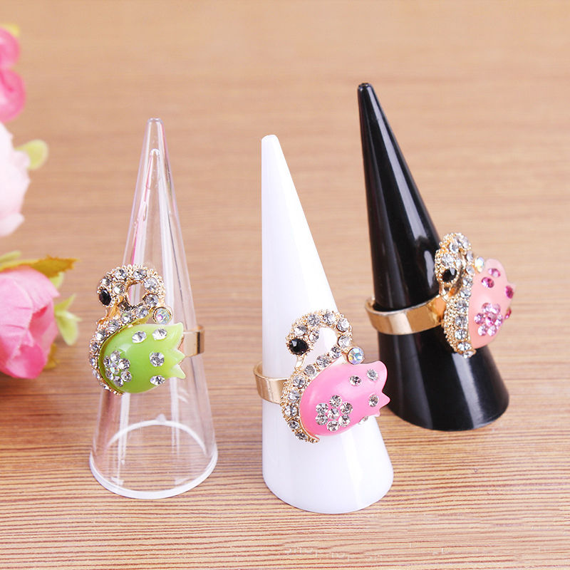 Multifunctional Design Item Rack Ring's Holder Fancy Acrylic Jewelry Finger Ring Display Ring Holder Jewelry Exhibition Stand(China (Mainland))